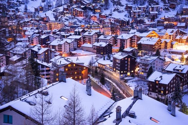 Zermatt, suisse, cervin, station de ski