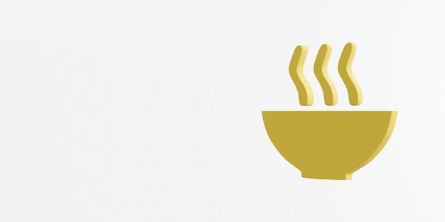 Zéro faim icône rendu 3d