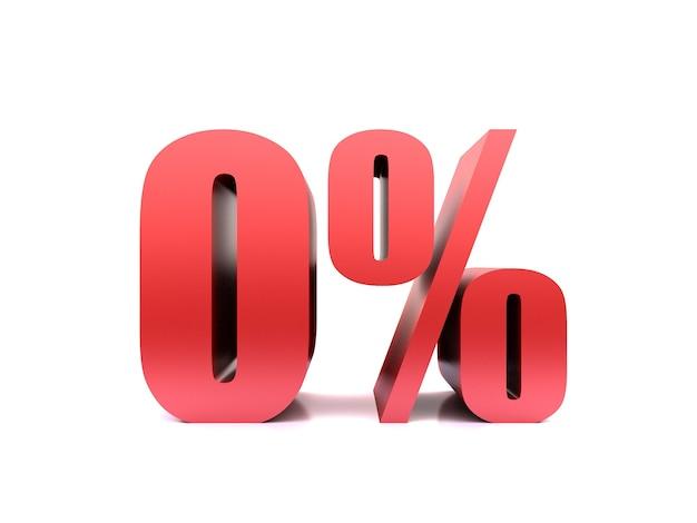 Zéro pour cent symbole 0%