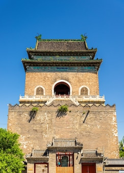 Zhonglou ou bell tower à pékin - chine