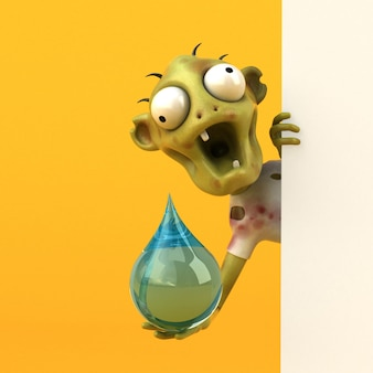 Zombie amusant - illustration 3d