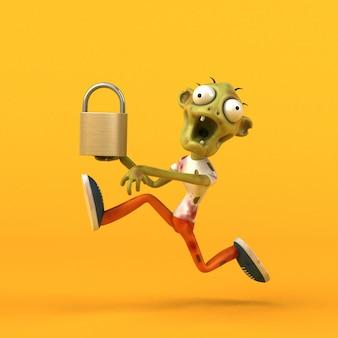 Zombie amusant - personnage 3d