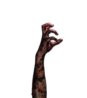 Zombie main. concept de thème halloween.