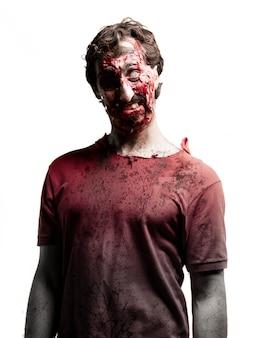 Zombie avec un oeil blanc et un noir