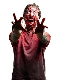 Zombie avec un oeil blanc
