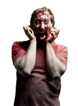 Zombie visage griffant