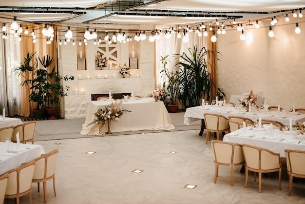 Zone de cérémonie de mariage, décor de chaises en arc