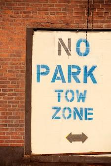Zone de remorquage, signe, boston, massachusetts, usa