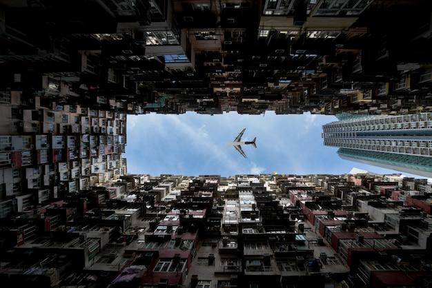 Zone des résidences de la ville de hong kong