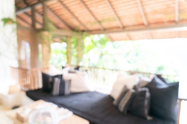 Zone de salon flou abstrait sur balcon terrasse pour le fond