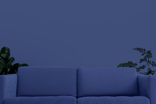 Zoom arrière-plan design d'intérieur de salon contemporain