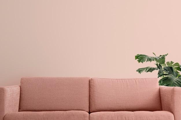 Zoom fond salon design d'intérieur moderne pastel