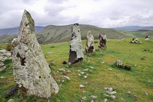 Zorats karer, karahunj - ruines anciennes en arménie