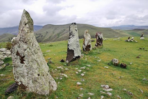 Zorats karer, karahunj - ruines antiques en arménie