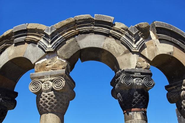Zvartnots, ruines d'un ancien temple, arménie