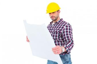 Architecte, tenue, plan