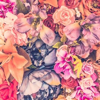 Beau fond avec des fleurs différentes