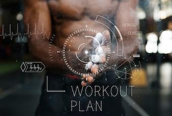 Bien-être Santé Lifestyle Workout Graphic Word