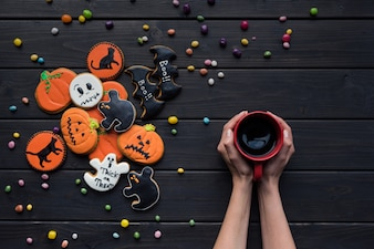 Biscuits d'Halloween faits maison