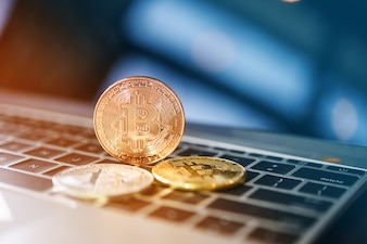 Bitcoin sur ordinateur portable.