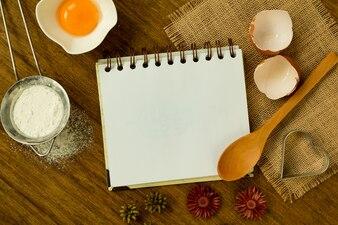 Cahier de recette vierge pour le texte