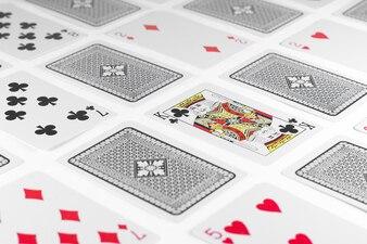 Cartes à jouer King carte et arrière fond blanc maquette