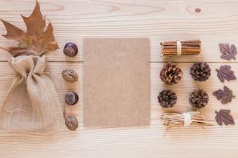 Carton entre les noix et les chicots