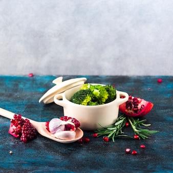 Composition d'aliments sains avec un style élégant