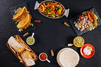 Composition de la cuisine mexicaine