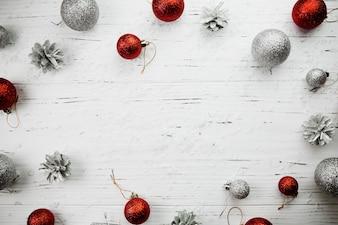 Composition de Noël de boules lumineuses