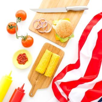 Concept de restauration rapide et de cuisine