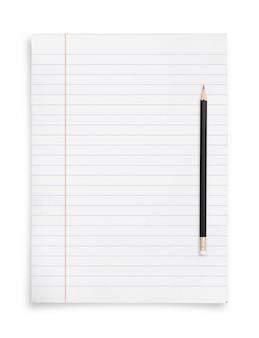 Crayon et feuille de papier.