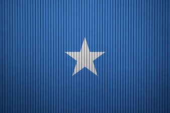 Drapeau national peint de Somalie sur un mur de béton