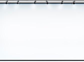 Écran de projection pour l'espace de copie avec projecteurs