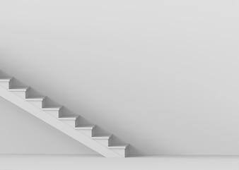 Escaliers de ciment gris simple sur fond de copie espace