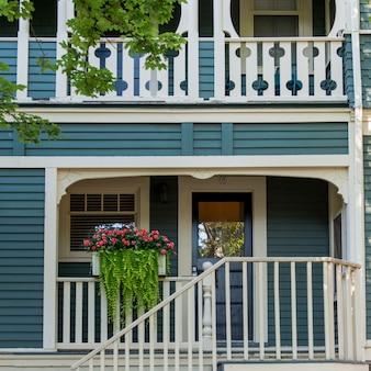 Façade d'une maison, Charlottetown, Île-du-Prince-Édouard, Canada