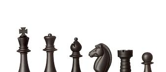 Figures d'échecs noires