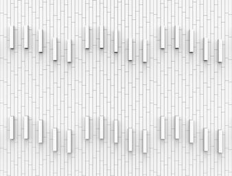 Fond de mur de briques blanches rectangle vertical moderne.