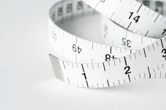 Gros plan de ruban à mesurer
