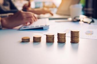 La pièce d'or représente la croissance de l'entreprise
