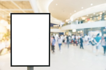 Maquette vierge du panneau d'affichage vertical.
