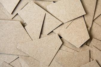Papier brun coupé de fond. Fond de conception matérielle