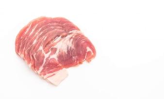 Porc frais en tranches