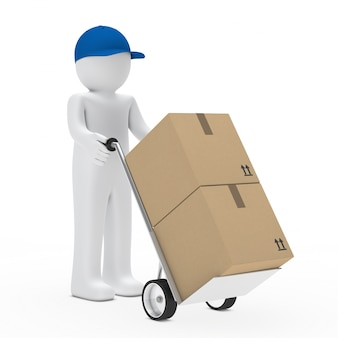 Rag doll transportant des boîtes