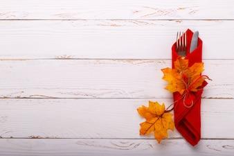 Réglage de la table d'automne