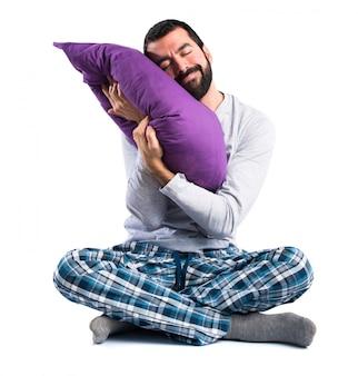 homme qui dort sur un lit t l charger icons gratuitement. Black Bedroom Furniture Sets. Home Design Ideas