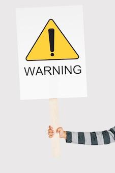 Signe de protestation d'avertissement