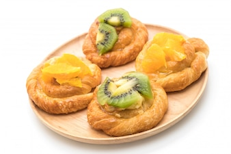 Tarte à l'orange et au kiwi