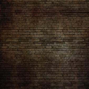 Texture de mur de briques grunge 3D