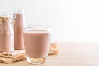 Verre de lait au chocolat